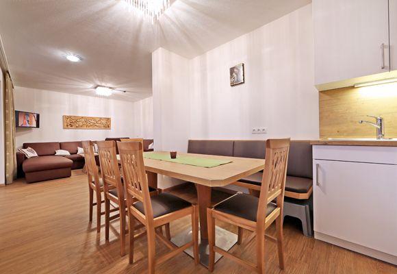 Essbereich im Apartement